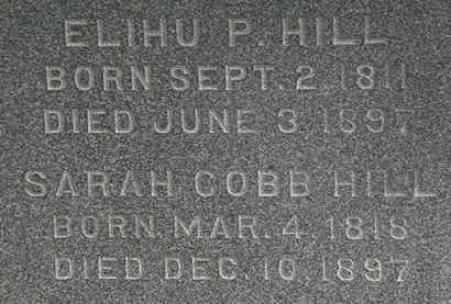 COBB HILL, SARAH - Erie County, Ohio | SARAH COBB HILL - Ohio Gravestone Photos