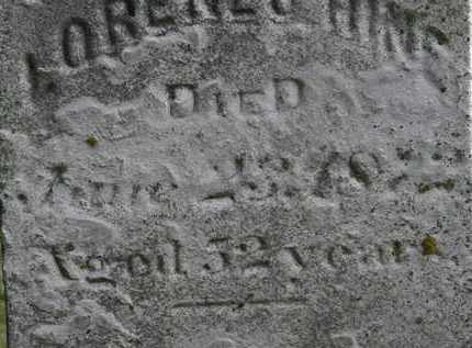 HINE, LORENZO - Erie County, Ohio | LORENZO HINE - Ohio Gravestone Photos