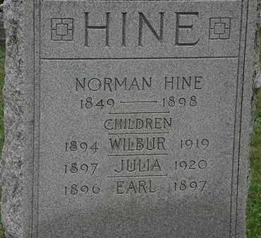 HINE, JULIA - Erie County, Ohio | JULIA HINE - Ohio Gravestone Photos