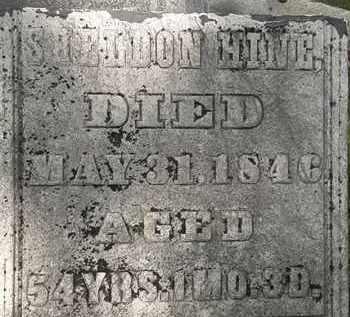 HINE, SHELDON - Erie County, Ohio | SHELDON HINE - Ohio Gravestone Photos