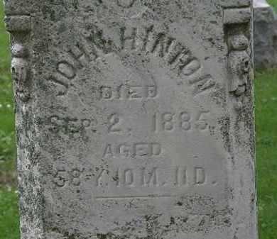 HINTON, JOHN - Erie County, Ohio   JOHN HINTON - Ohio Gravestone Photos