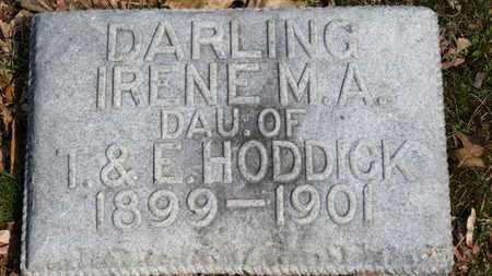 HODDICK, IRENE M.A. - Erie County, Ohio | IRENE M.A. HODDICK - Ohio Gravestone Photos