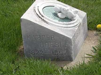 HOESLE, KASPER - Erie County, Ohio   KASPER HOESLE - Ohio Gravestone Photos