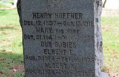 HOFFNER, MARY - Erie County, Ohio | MARY HOFFNER - Ohio Gravestone Photos