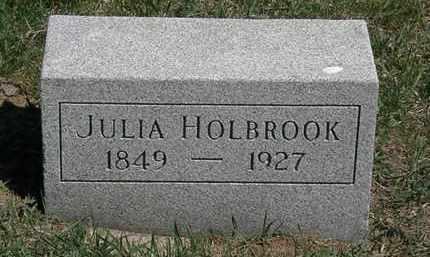 HOLBROOK, JULIA - Erie County, Ohio | JULIA HOLBROOK - Ohio Gravestone Photos
