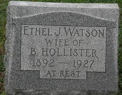 WATSON HOLLISTER, ETHEL J. - Erie County, Ohio   ETHEL J. WATSON HOLLISTER - Ohio Gravestone Photos