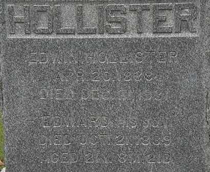 HOLLISTER, EDWIN - Erie County, Ohio | EDWIN HOLLISTER - Ohio Gravestone Photos
