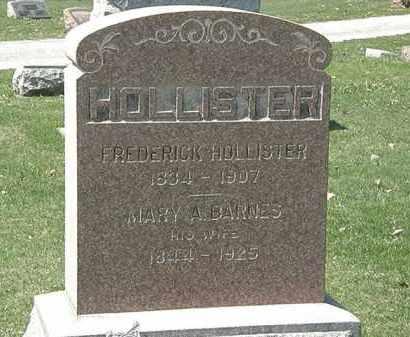 BARNES HOLLISTER, MARY A. - Erie County, Ohio | MARY A. BARNES HOLLISTER - Ohio Gravestone Photos