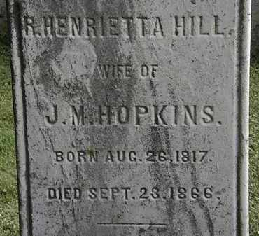 HOPKINS, R. HENRIETTA - Erie County, Ohio | R. HENRIETTA HOPKINS - Ohio Gravestone Photos