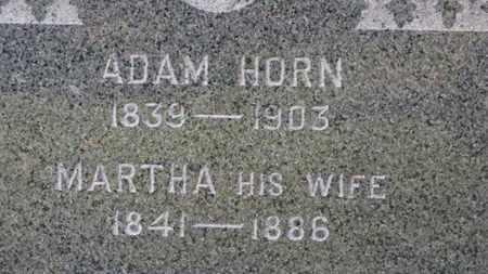 HORN, ADAM - Erie County, Ohio | ADAM HORN - Ohio Gravestone Photos