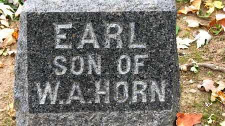 HORN, EARL - Erie County, Ohio   EARL HORN - Ohio Gravestone Photos