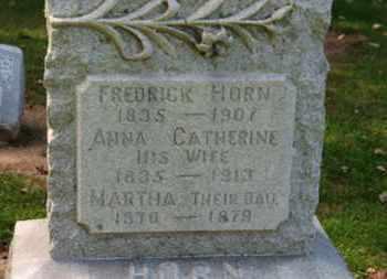HORN, ANNA CATHERINE - Erie County, Ohio | ANNA CATHERINE HORN - Ohio Gravestone Photos