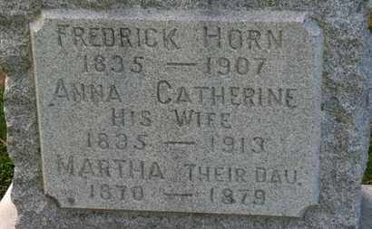 HORN, ANNA CATHERINE - Erie County, Ohio | ANNA CATHERINE HORN - Ohio Gravestone Photos