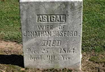 HOSFORD, ABIGAIL - Erie County, Ohio   ABIGAIL HOSFORD - Ohio Gravestone Photos