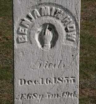 HOW, BENJAMIN - Erie County, Ohio | BENJAMIN HOW - Ohio Gravestone Photos