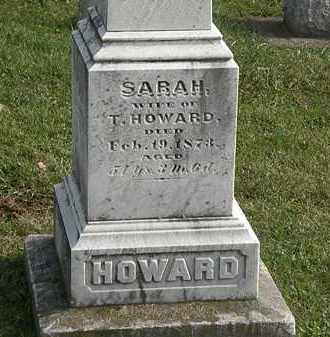 HOWARD, T. - Erie County, Ohio | T. HOWARD - Ohio Gravestone Photos