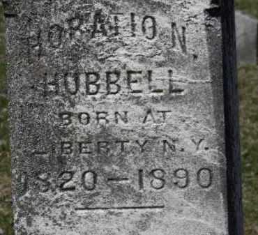 HUBBELL, HORATIO  N. - Erie County, Ohio | HORATIO  N. HUBBELL - Ohio Gravestone Photos