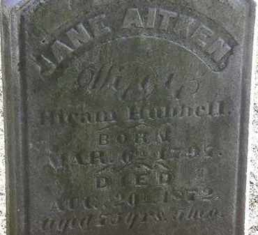 AITKEN HUBBELL, JANE - Erie County, Ohio | JANE AITKEN HUBBELL - Ohio Gravestone Photos