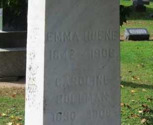 HUENE, EMMA - Erie County, Ohio | EMMA HUENE - Ohio Gravestone Photos