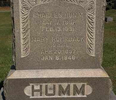 HUMM, CHARLES - Erie County, Ohio | CHARLES HUMM - Ohio Gravestone Photos