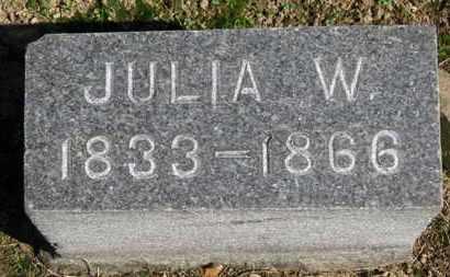 HURLBUTT, JULIA W. - Erie County, Ohio | JULIA W. HURLBUTT - Ohio Gravestone Photos
