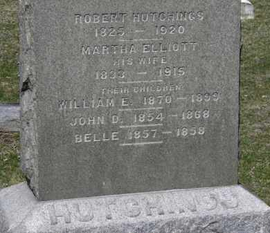 ELLIOT HUTCHINGS, MARTHA - Erie County, Ohio | MARTHA ELLIOT HUTCHINGS - Ohio Gravestone Photos