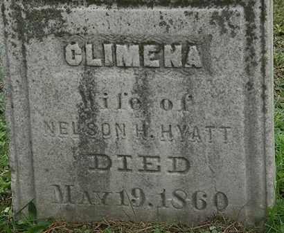 HYATT, CLIMENA - Erie County, Ohio | CLIMENA HYATT - Ohio Gravestone Photos
