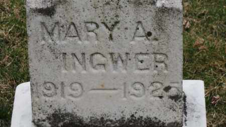 INGWER, MARY A. - Erie County, Ohio | MARY A. INGWER - Ohio Gravestone Photos