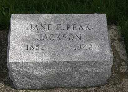 PEAK JACKSON, JANE E. - Erie County, Ohio | JANE E. PEAK JACKSON - Ohio Gravestone Photos