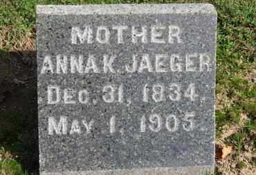 JAEGER, ANNA K. - Erie County, Ohio   ANNA K. JAEGER - Ohio Gravestone Photos