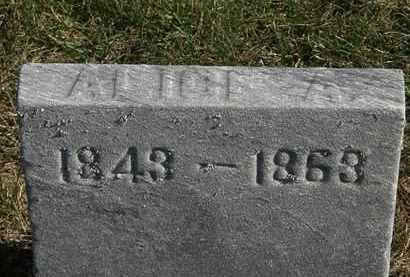 JEFFERSON, ALICE A. - Erie County, Ohio | ALICE A. JEFFERSON - Ohio Gravestone Photos