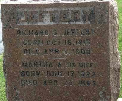 JEFFERY, RICHARD G. - Erie County, Ohio | RICHARD G. JEFFERY - Ohio Gravestone Photos