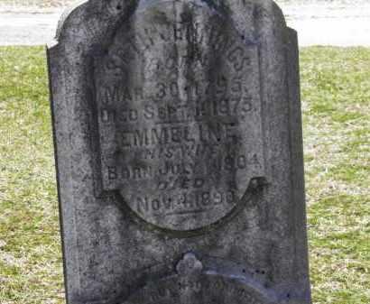 JENNINGS, EMMELINE - Erie County, Ohio | EMMELINE JENNINGS - Ohio Gravestone Photos
