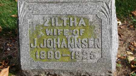JOHANNSEN, ZILTHA - Erie County, Ohio | ZILTHA JOHANNSEN - Ohio Gravestone Photos