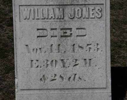 JONES, WILLIAM - Erie County, Ohio | WILLIAM JONES - Ohio Gravestone Photos