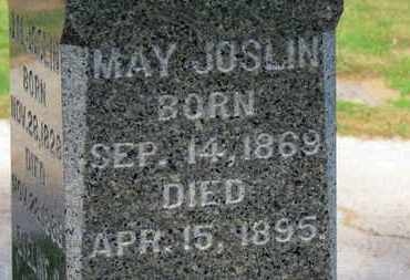 JOSLIN, MAY - Erie County, Ohio | MAY JOSLIN - Ohio Gravestone Photos