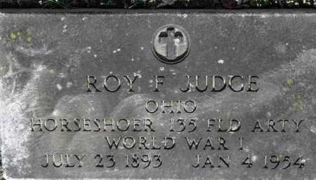 JUDGE, ROY F. - Erie County, Ohio | ROY F. JUDGE - Ohio Gravestone Photos