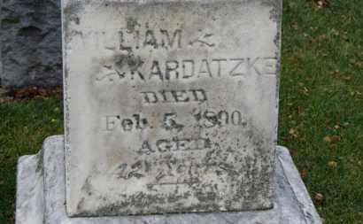 KARDATZKE, WILLIAM - Erie County, Ohio   WILLIAM KARDATZKE - Ohio Gravestone Photos
