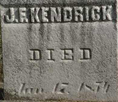 KENDRICK, J.F. - Erie County, Ohio   J.F. KENDRICK - Ohio Gravestone Photos