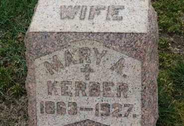 KERBER, MARY A. - Erie County, Ohio | MARY A. KERBER - Ohio Gravestone Photos