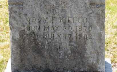 KIEFER, ADAM F. - Erie County, Ohio | ADAM F. KIEFER - Ohio Gravestone Photos