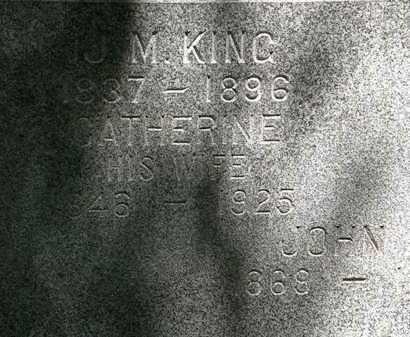 KING, J.M. - Erie County, Ohio | J.M. KING - Ohio Gravestone Photos