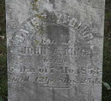 KING, JOHN A. - Erie County, Ohio | JOHN A. KING - Ohio Gravestone Photos