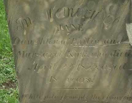 KIRK, JANE - Erie County, Ohio   JANE KIRK - Ohio Gravestone Photos