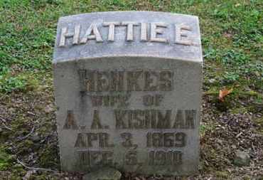 KISHMAN, HATTIE E. - Erie County, Ohio | HATTIE E. KISHMAN - Ohio Gravestone Photos