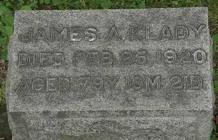 KLADY, JAMES A. - Erie County, Ohio | JAMES A. KLADY - Ohio Gravestone Photos