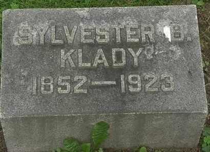 KLADY, SYLVESTOR B. - Erie County, Ohio | SYLVESTOR B. KLADY - Ohio Gravestone Photos