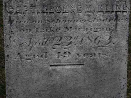 KLINE, CAPT. GEORGE M. - Erie County, Ohio | CAPT. GEORGE M. KLINE - Ohio Gravestone Photos