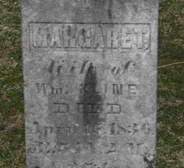 KLINE, MARGARET - Erie County, Ohio   MARGARET KLINE - Ohio Gravestone Photos