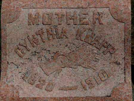 KNAPP, CYNTHIA - Erie County, Ohio | CYNTHIA KNAPP - Ohio Gravestone Photos